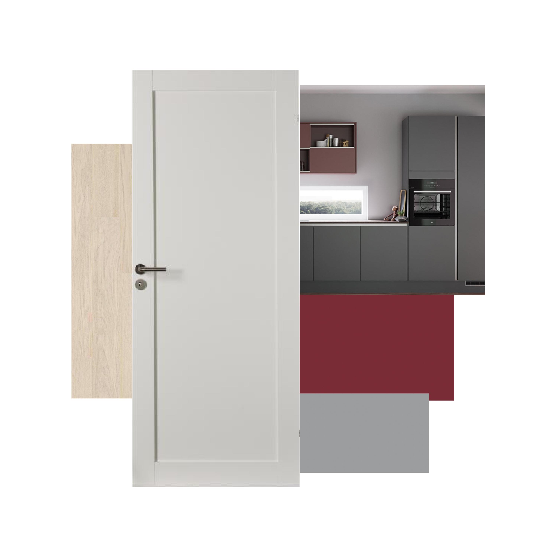 Kjøkken, innerdører og gulv